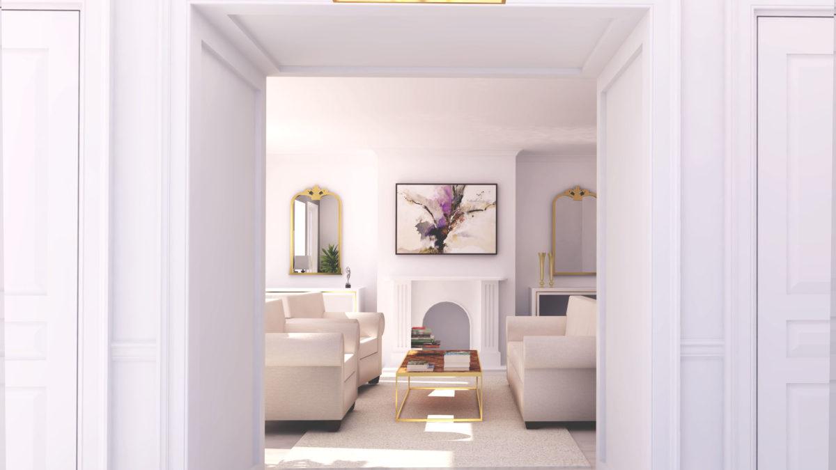 家具 配置 シンメトリー ソファ
