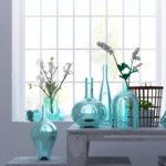 夏の飾り ブルーガラス