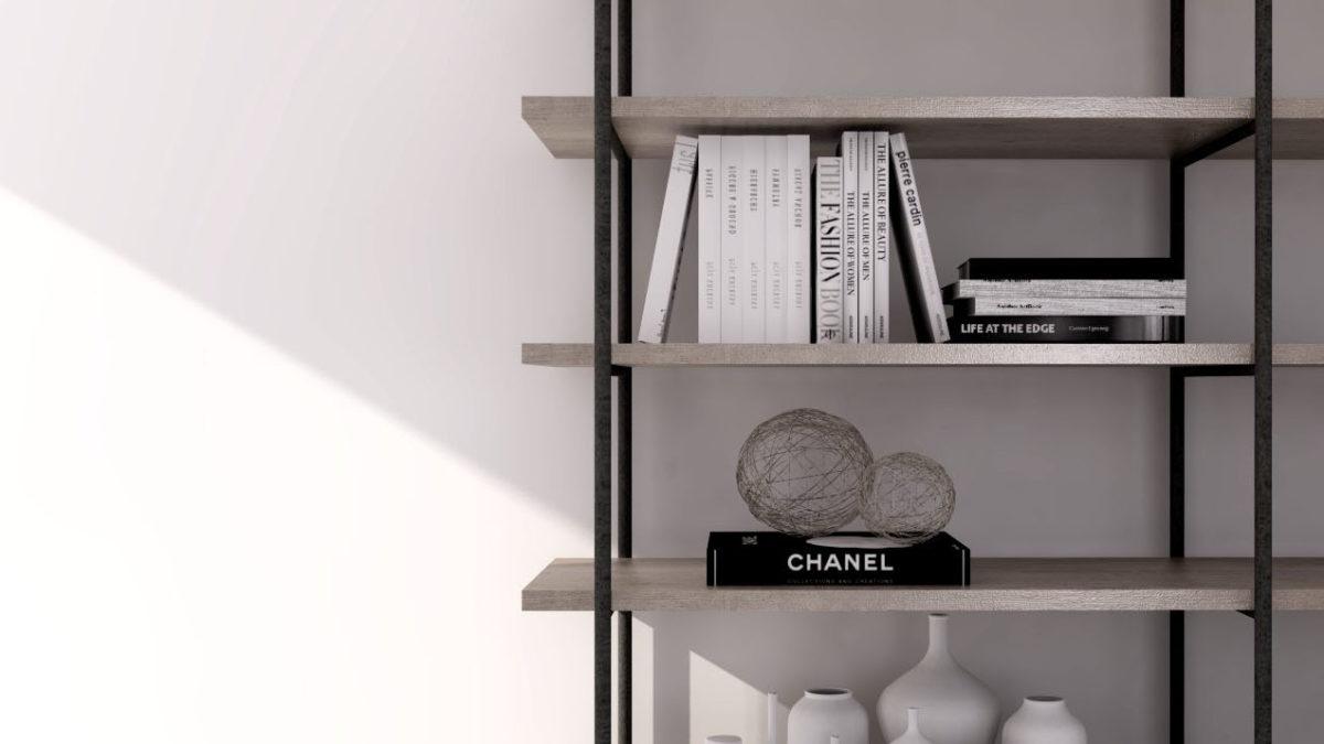 本棚に本を飾る