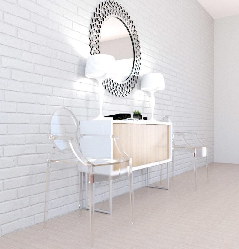 ルイゴーストのある部屋 | 椅子を飾る