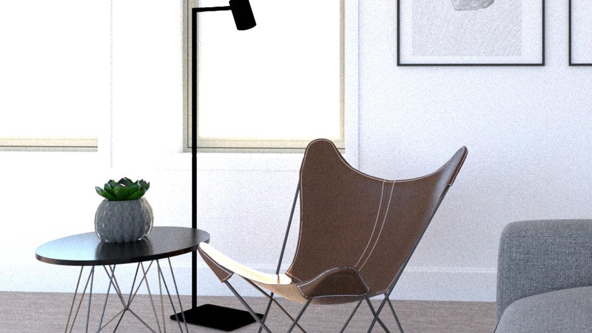 バタフライチェアのある部屋   椅子を飾る