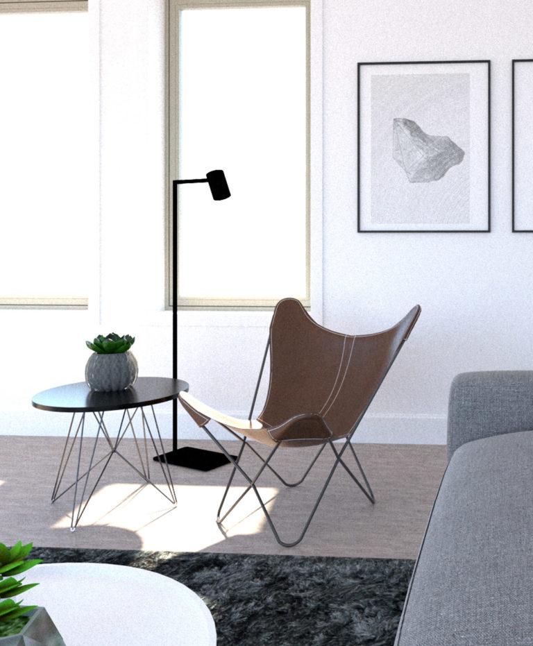 バタフライチェアのある部屋 | 椅子を飾る